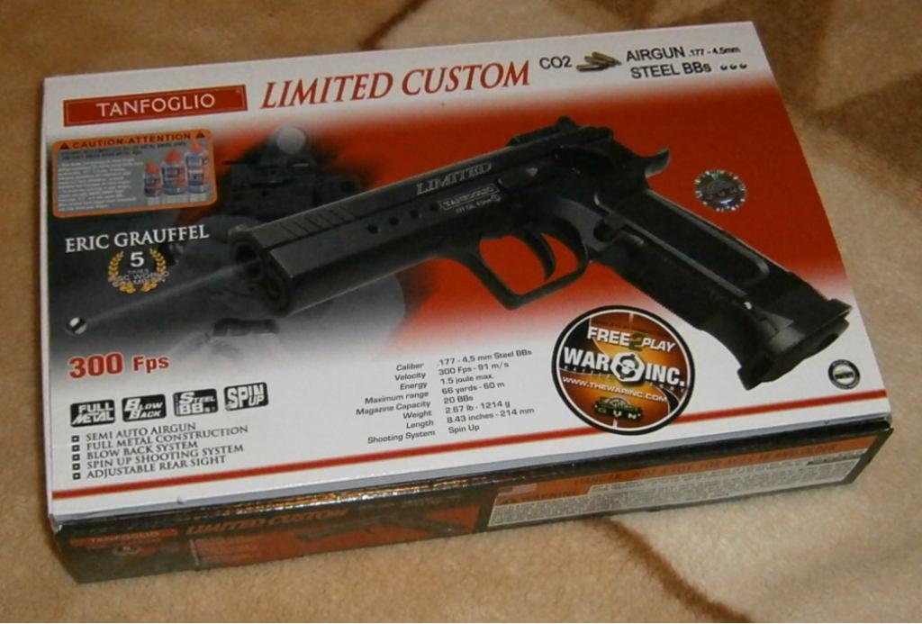 Пистолет пневматический Swiss Arms Tanfoglio Limited Custom