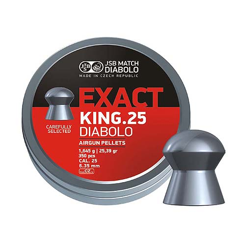 "Пули JSB ""DIABOLO EXACT King"" 1.645гр. 6,35мм. 350шт"