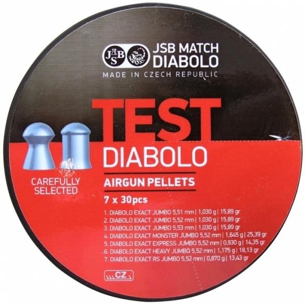Пули для пневматики JSB Exact Test 5,5мм (210шт)