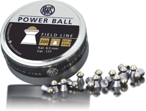 Пули для пневматики RWS Power Ball 4,5мм 0,61г (200шт)
