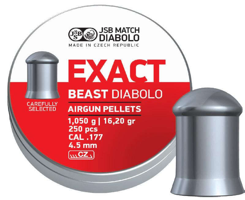 Пули для пневматики Exact Beast Diabolo 1,05гр. 250 шт/уп.