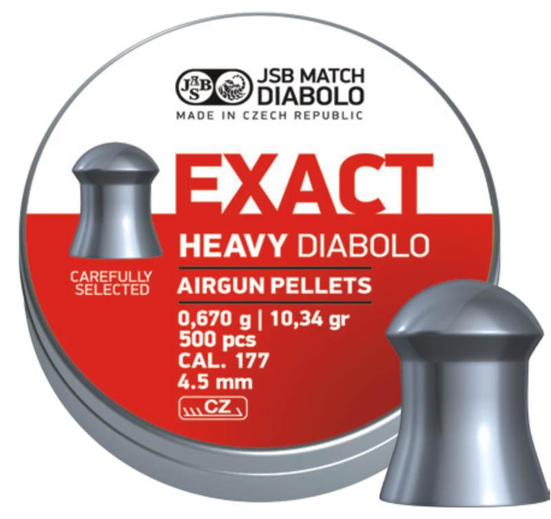 Пули для пневматики Exact Heavy Diabolo 4,52мм 0,67гр. (500шт)