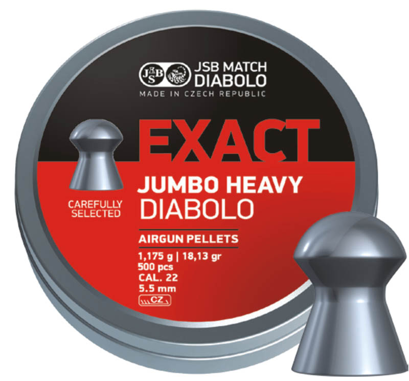 Пули для пневматики Exact Jumbo Heavy Diabolo 5,52мм 1,175г (250шт)