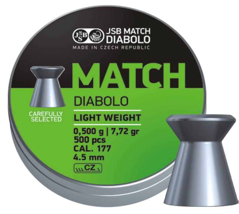 Пули для пневматики Green Match Diabolo - 500шт .Вес 0,475 грамм. 4,50 мм