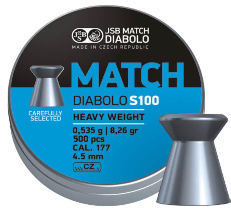 Пули для пневматики Match Diabolo S100