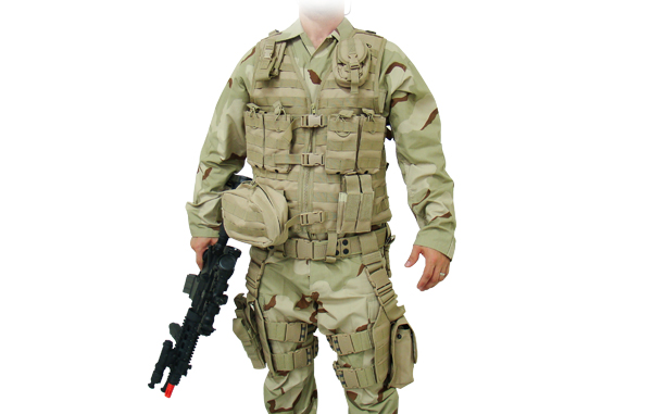 Полная тактическая разгрузка Leapers UTG, 10 предметов, зеленый (PVC-V747KTG)
