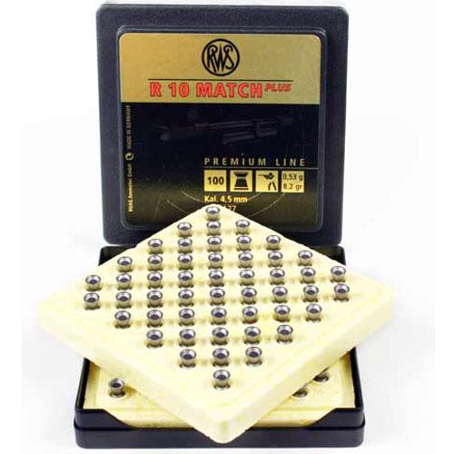 Пули для пневматики RWS R10 MATCH Plus, 4,5мм 0,53 гр (100шт)