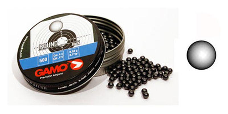 Пули (шарики) для пневматики GAMO Round 4,5мм 0,53гр (500 шт)