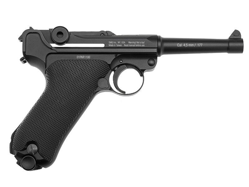 Пистолет пневматический Gletcher Parabellum (черный)
