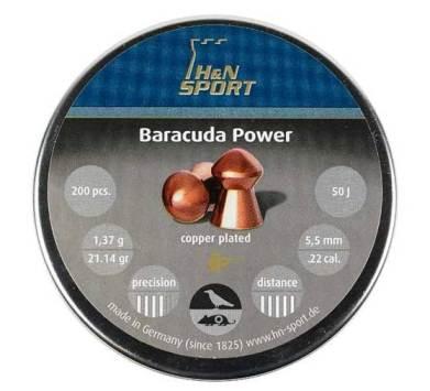Пули для пневматики H&N Baracuda Power 5,5мм 1,37гр. (200 шт)