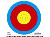 Мишень лучно-арбалетная FITA 80 см. центр 5 колец. D-40см (Бумага 120г/м)