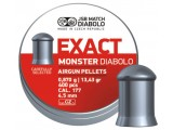 Пули для пневматики JSB Exact Monster Diabolo 4,5мм 0,87гр. (400шт)