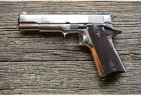 Оружие списанное охолощенное Colt 1911 СО ХРОМ под патрон 10x24 (Курс-С)