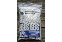 Шарики для страйкбола BLS 0,20 (1кг/уп, белые)