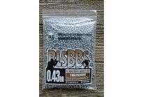 Шарики для страйкбола BLS 0,43 (1кг/уп, серые)