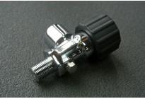 Вентиль для баллона ВД с клапаном (хром)