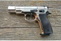 Оружие списанное охолощенное пистолет Z75-СО ХРОМ под патрон 10ТК (Курс-С)