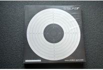 Мишень для пневматики №17 Gletcher 170*170 картон, 50шт (Сталкер)
