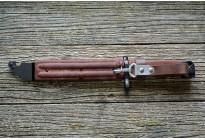 Штык-нож ММГ АК ШНС-001 с ухом, без пропила (АК74-коричневые ножны и рукоятка) 2-я категория