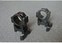 Кольца на Вивер, высокие, быстросъемные 25,4мм BH-RS24