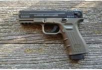 Оружие списанное охолощенное пистолет К-17-СО зеленый под патрон 10ТК (Курс-С)
