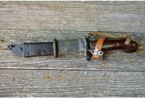 Штык-нож ММГ АК ШНС-001-01 (коричневый с резиновой накладкой) без пропила