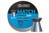 Пули для пневматики JSB Match Diabolo S100 4,5мм 0,535г (500шт)