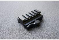 Кронштейн UTG Weaver на Weaver, 5 слотов, длина 60мм, высота 15мм. 2 упора, быстросъемный, алюминий, черный, 85гр.