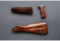 Комплект для тюнинга АК74 ЛЮКС (дерев. цевье и накладка, бакелит. рукоять)