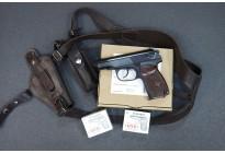 НАБОР: Пистолет Р-411-01 бакелит. рукоять + кобура оперативная + патроны 10ТК