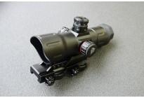 Коллиматор LEAPERS 1х38, T-dot 4MOA, подсв.R/G, закрытый, быстросъемный, совместим с увеличителем, 383гр