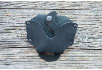 Чехол для наручников, кожа (черный)