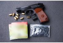 НАБОР: Пистолет МР-371+ картриджи + расходники