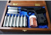 НАБОР: Пистолет МР-654К-32-1 в шкатулке + баллончики + шарики