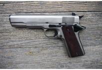 Оружие списанное охолощенное Colt 1911 СО ХРОМ МАТ под патрон 10x24 (Курс-С)