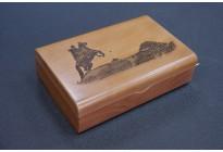 Шкатулка для пистолета подарочная Медный всадник с потайным замком, дерево бук