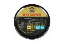 Пули для пневматики RWS R10 MATCH, 4,5мм 0,45 гр (500шт)