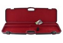 кейс Negrini для полуавтоматов черный, с отделениями, красный вельвет, кодовый замок, ствол до 940 мм