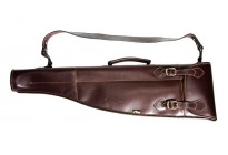 VEKTOR Ружейный чехол из натуральной кожи для любого двуствольного ружья в разобранном виде с длиной