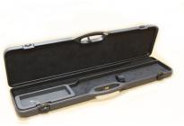кейс Negrini для полуавтоматов, люкс, пластик ABS, 2 отделения, замок с ключом, черный вельвет, ство