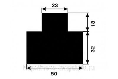 Мишень №6 (грудная-черная) 500*500мм