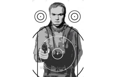 Мишень Вооруженный бандит Размер 520*750