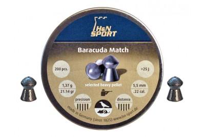 Пули для пневматики H&N Baracuda Match 5, 52мм 1, 38гр. (200 шт)