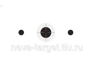Мишень Движущаяся для пневматики 250*150 мм ч. б.