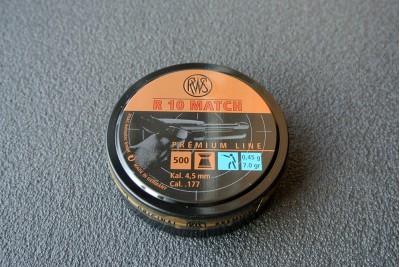 Пули для пневматики RWS R10 MATCH Premium Line, кал. 4, 49мм 0, 45 гр (500шт)