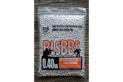 Шарики для страйкбола BLS 0, 40 (1кг/уп, белые)
