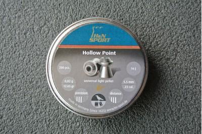 Пули для пневматики H&N Hollow Point 5, 5мм 0, 82гр. (200 шт)