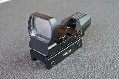 Прицел коллиматорный Target Optic 1*22*33 открытого типа на Weaver