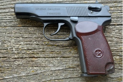 Пистолет пневматический Макаров МР-654К-38 бакелит. рукоять