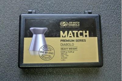 Пули JSB Match Premium Heavy 4, 5мм 0, 535гр (200шт)
